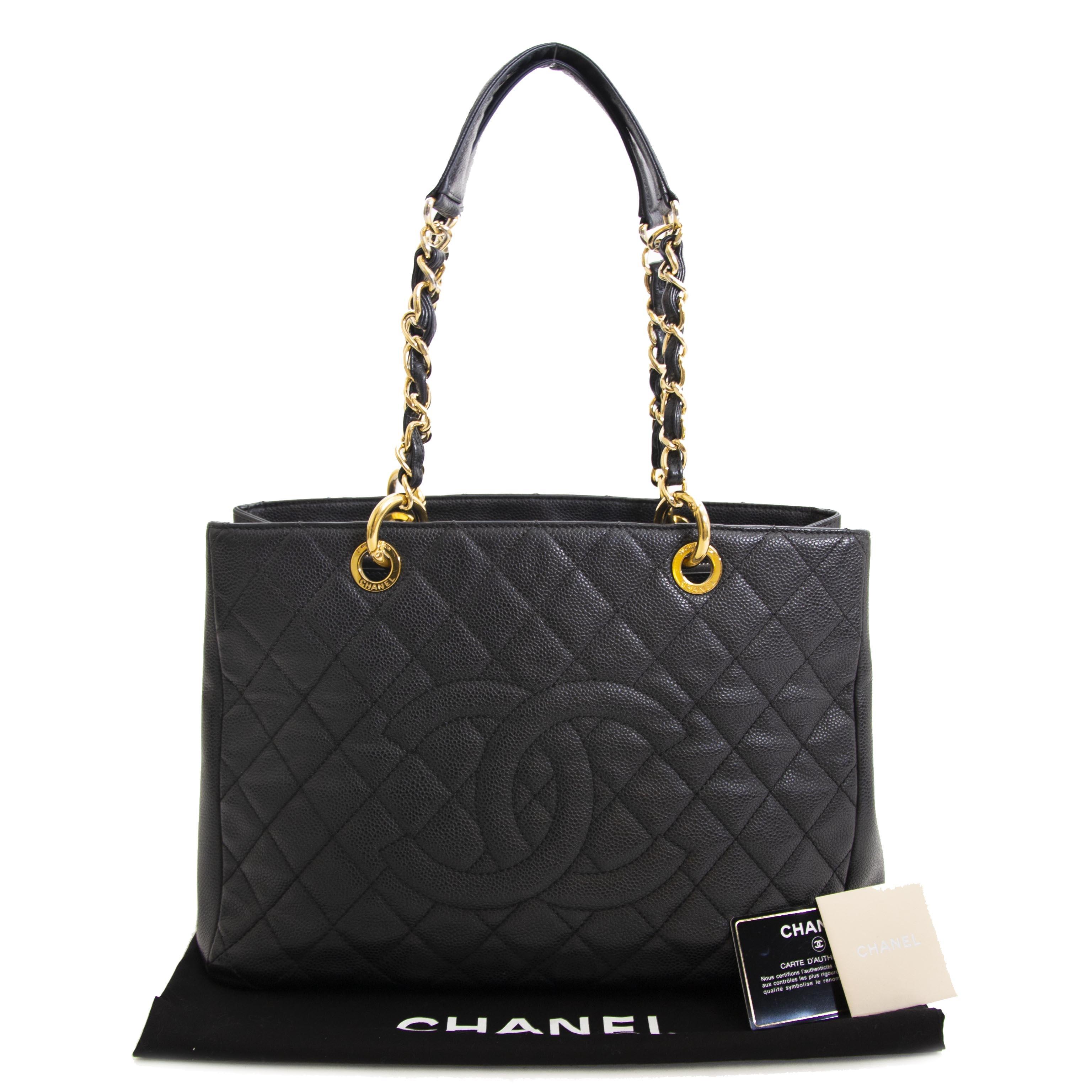 koop veilig onlien tegen de beste prijs Chanel Black Caviar GST Tote