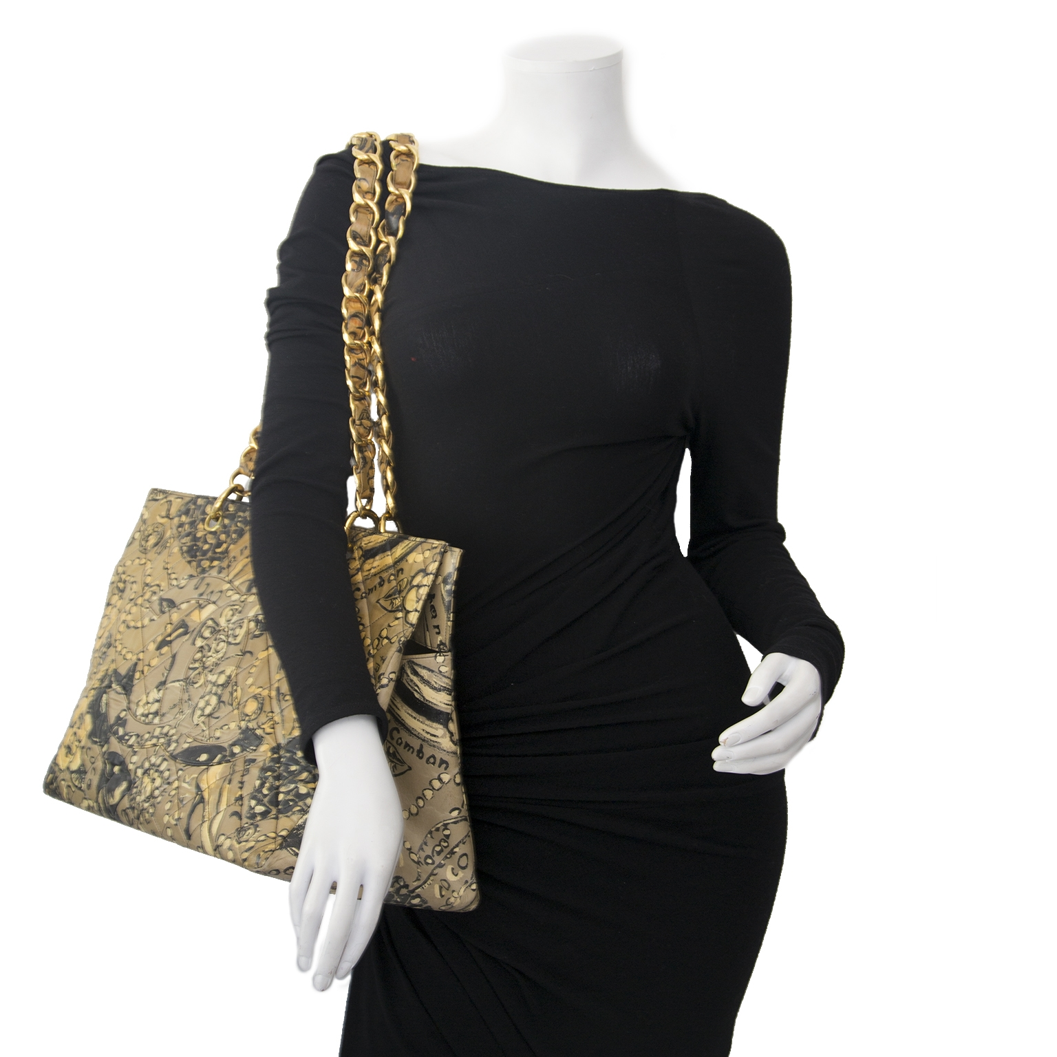 Chanel Mustard & Brown Motive Quilted Tote Bag Buy authentic designer Chanel secondhand bags at Labellov at the best price. Safe and secure shopping. Koop tweedehands authentieke Chanel tassen bij designer webwinkel labellov.
