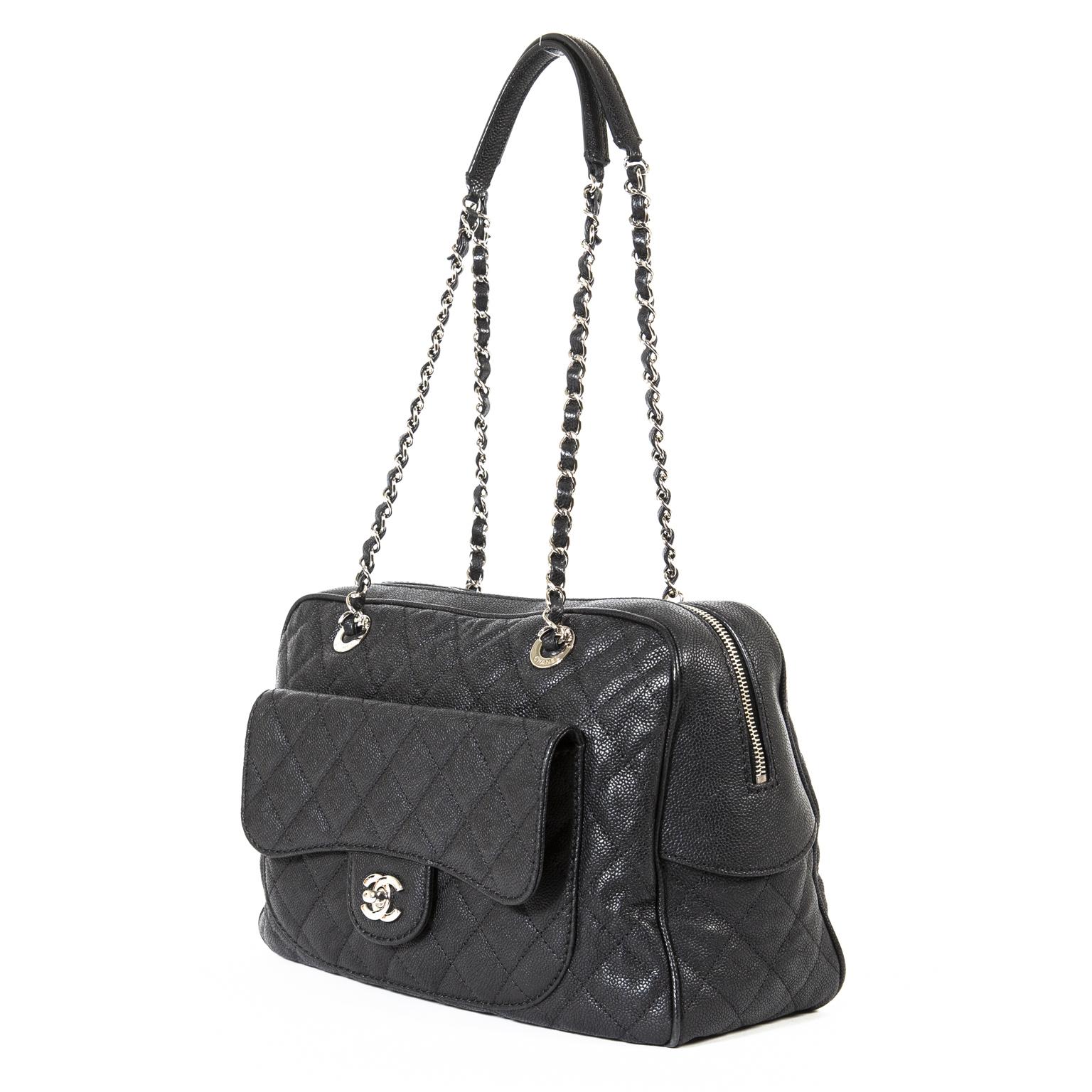 chanel caviar paradoxal camera shoulder bag now for sale at labellov vintage fashion webshop belgium