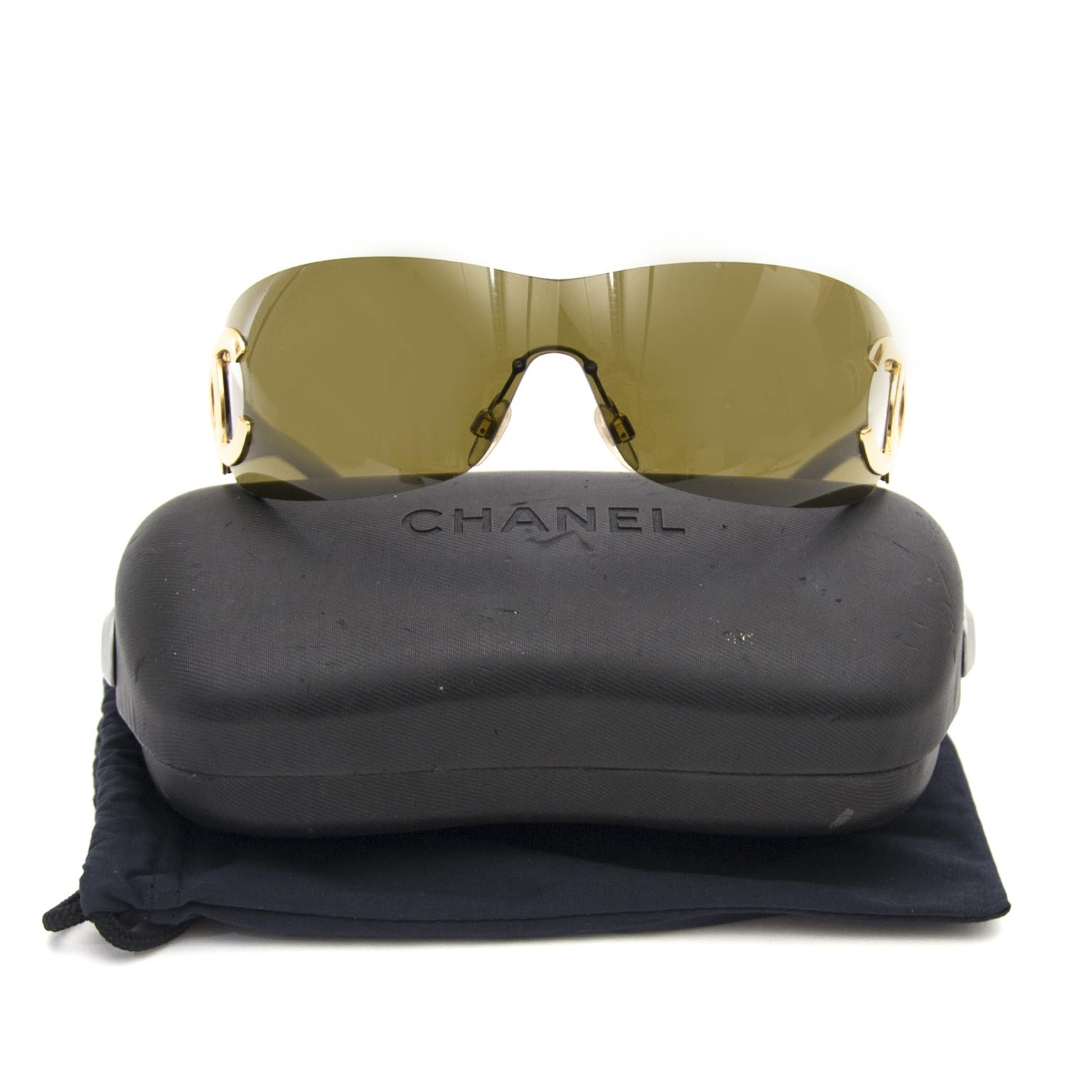 Chanel  Black 4119 Rimless Shield Cc Logo en ligne chez labellov.com pour le meilleur prix