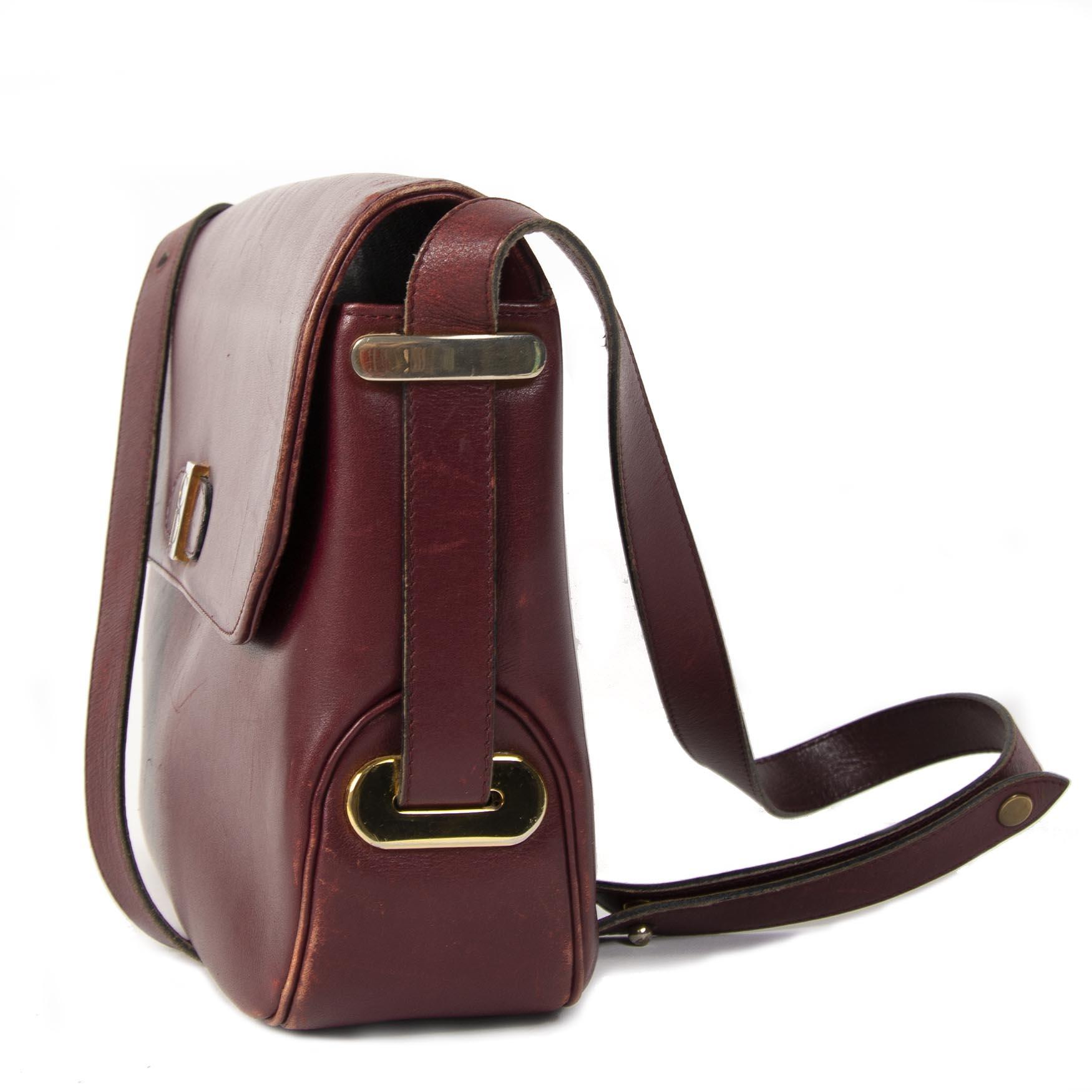 Authentieke tweedehans Christian Dior Vintage Bordeaux Crossbody Bag juiste prijs veilig online winkelen LabelLOV webshop luxe merken winkelen Antwerpen België mode fashion