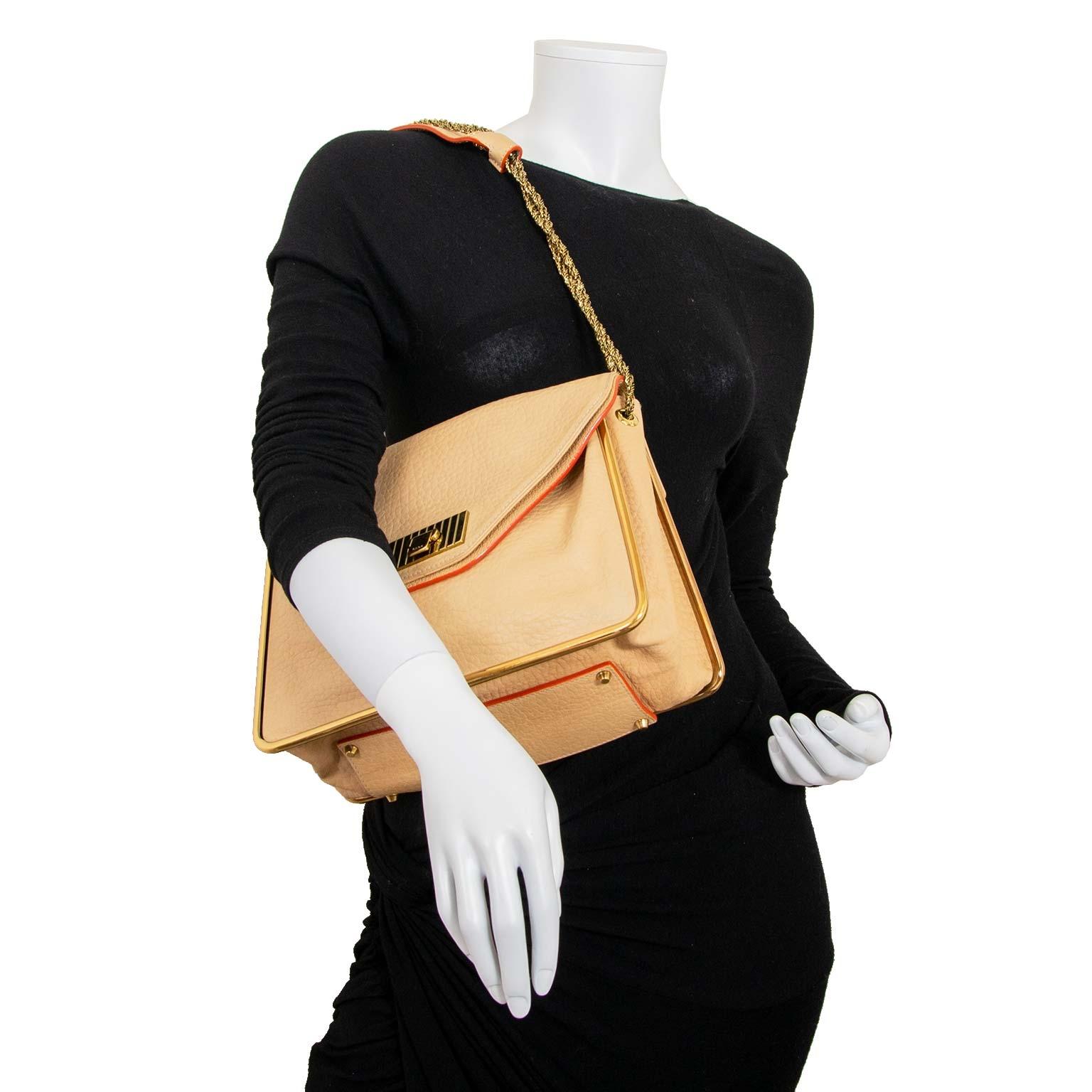 Chloé Beige Sally Bag now for sale at labellov vintage fashion webshop belgium