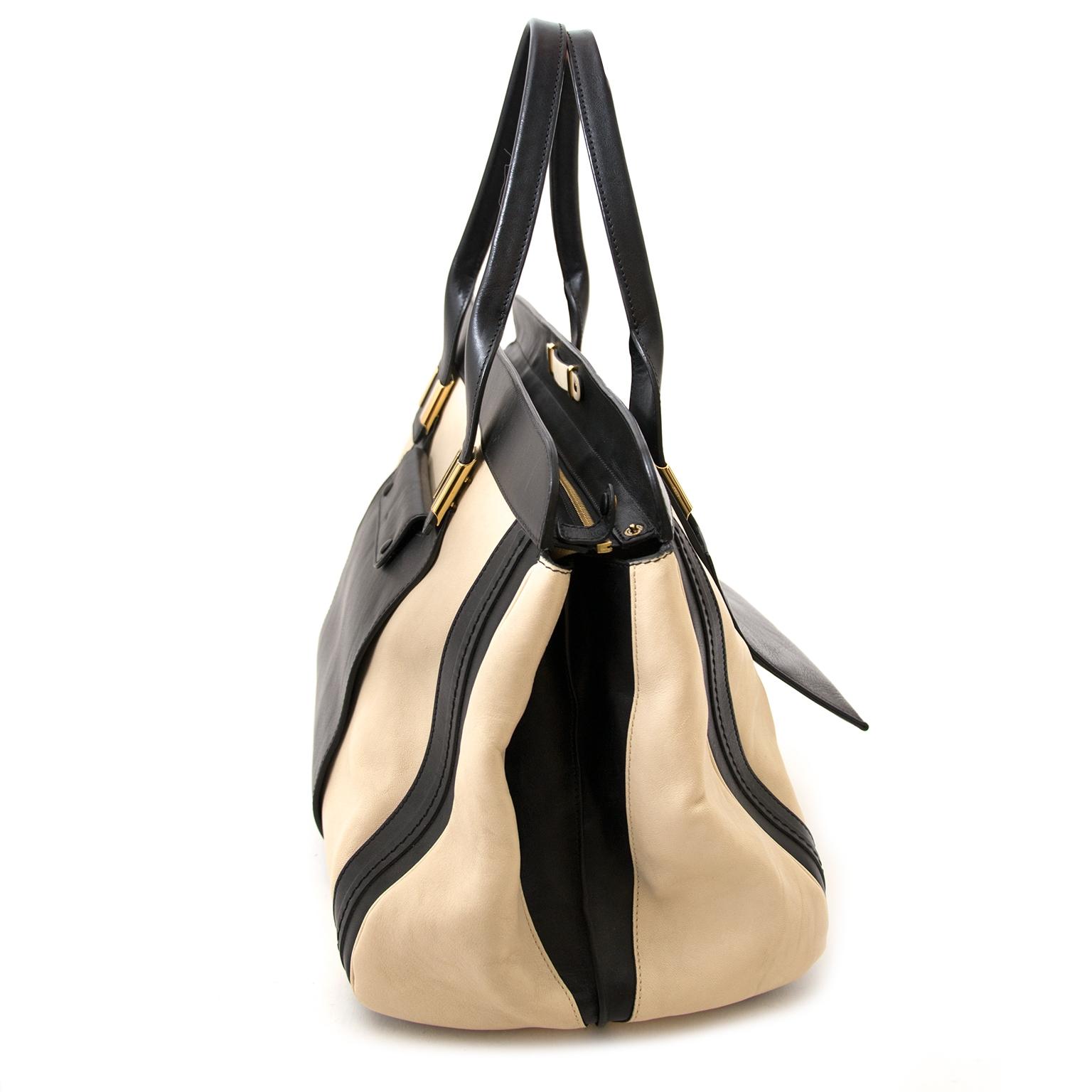 achetez Chloé Black And White Alice Bag chez labellov pour le meilleur prix
