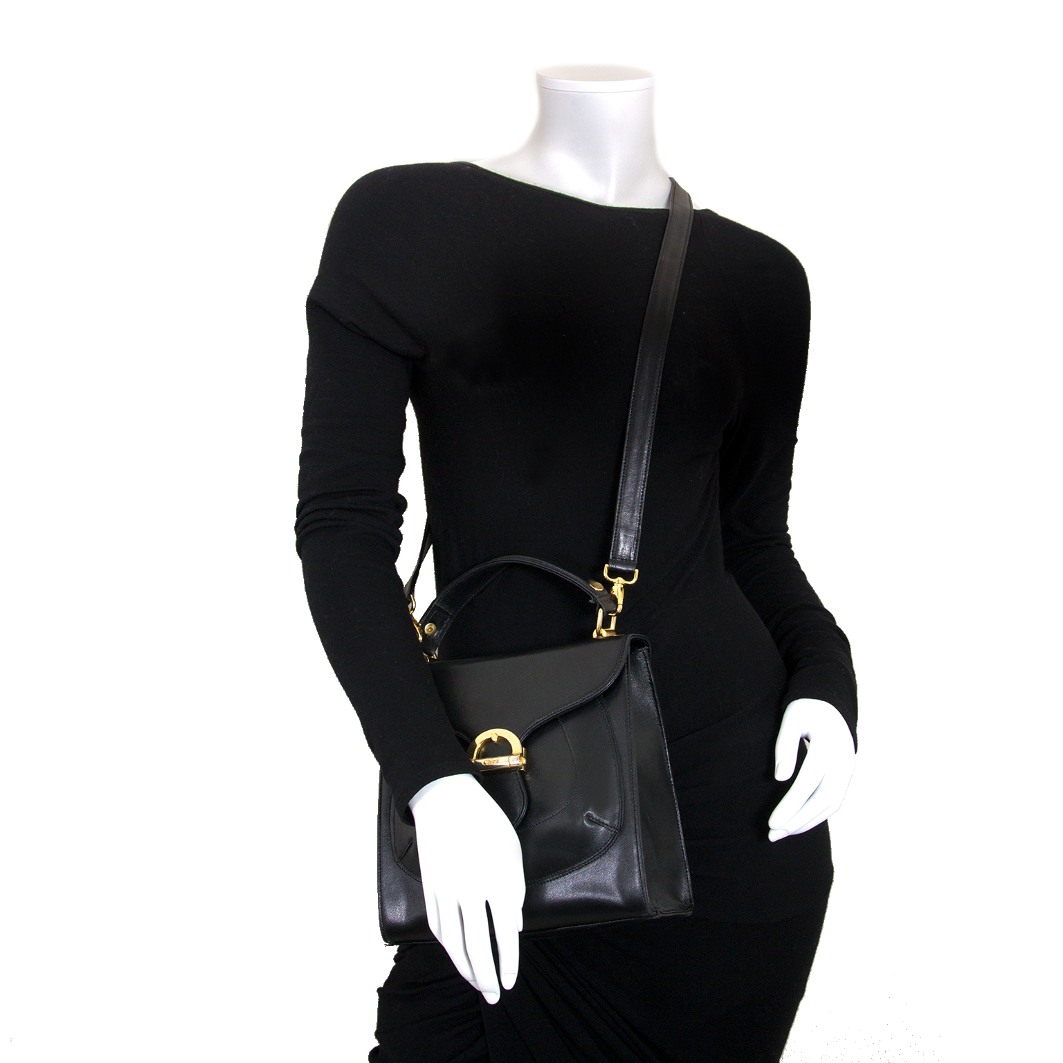 chloé black square crossbody bag now for sale at labellov vintage fashion webshop belgium