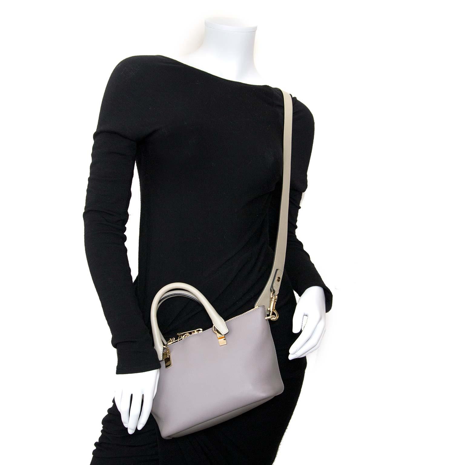 chloé mini grey baylee bag now for sale at labellov vintage fashion webshop belgium