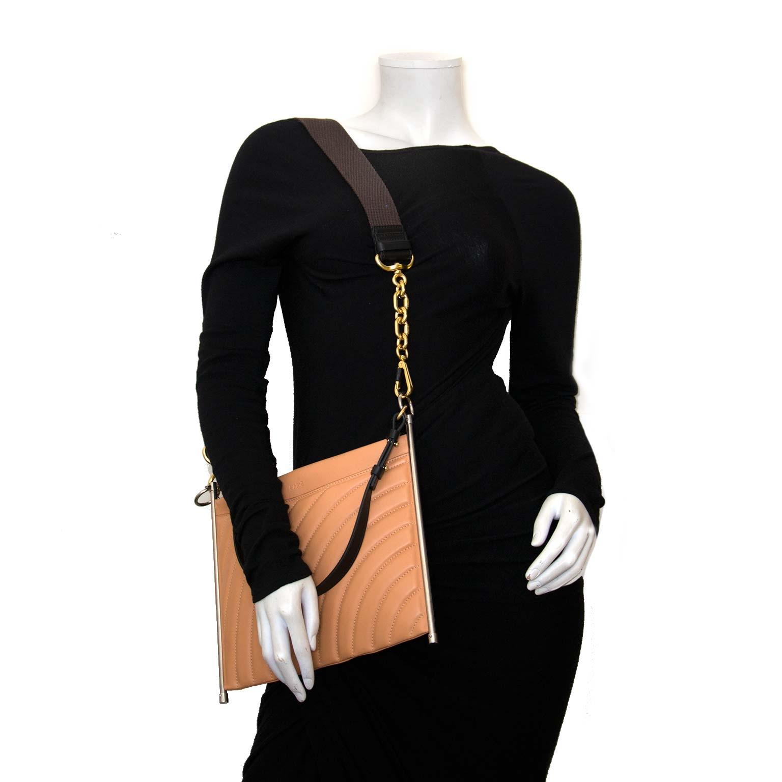 koop authentieke chloé blushy pink schouder tas bij labellov vintage mode webshop belgië