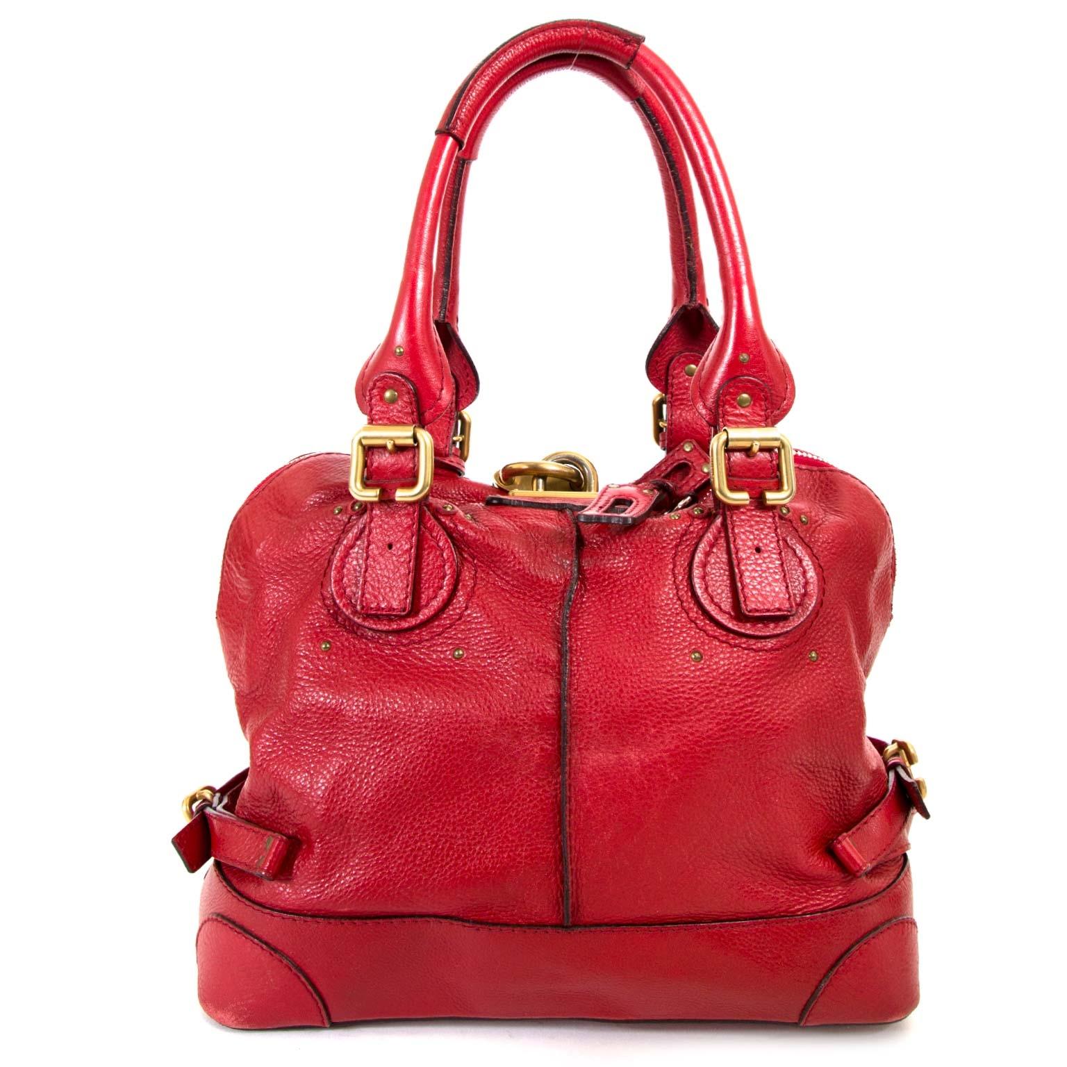 koop Chloé Red Paddington Satchel  en betaal veilig online bij labellov.com