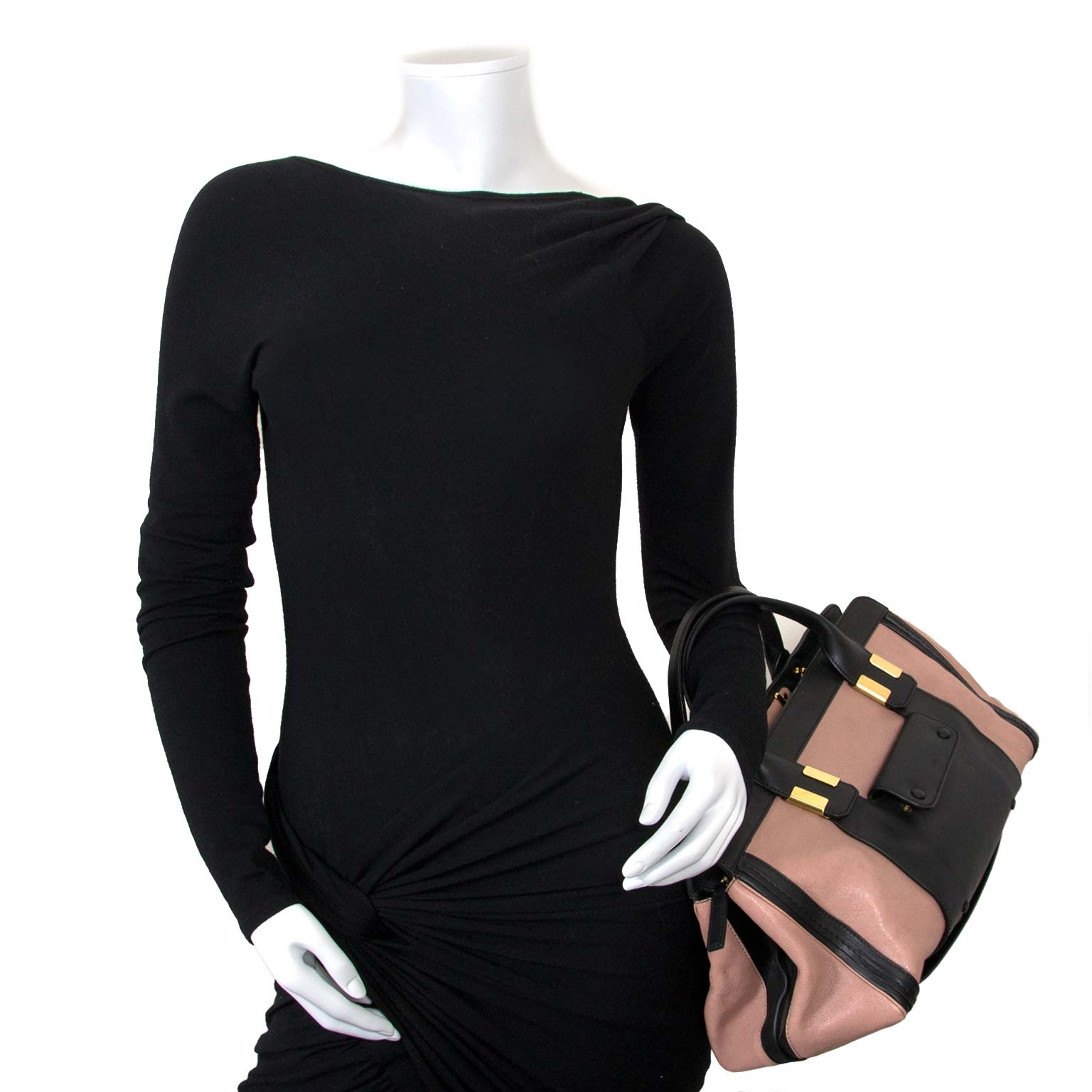 chloé black and pink alice bag now for sale at labellov vintage fashion webshop belgium