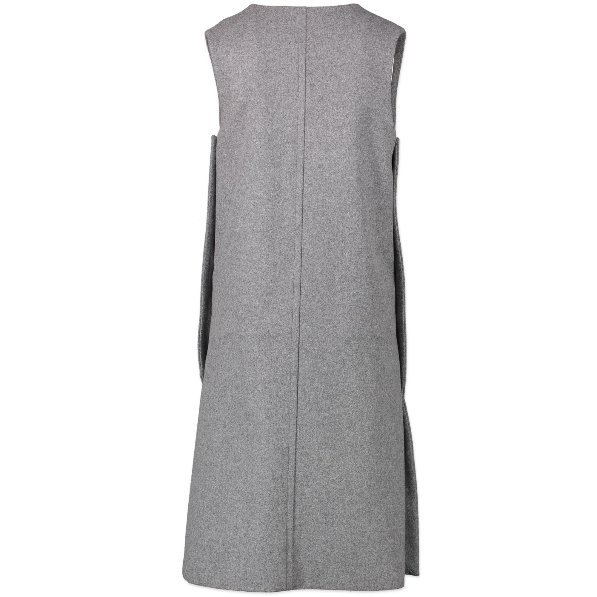 Chloé Grey V-neck Wool Felt Dress we buy and sell your authentic designer bags online