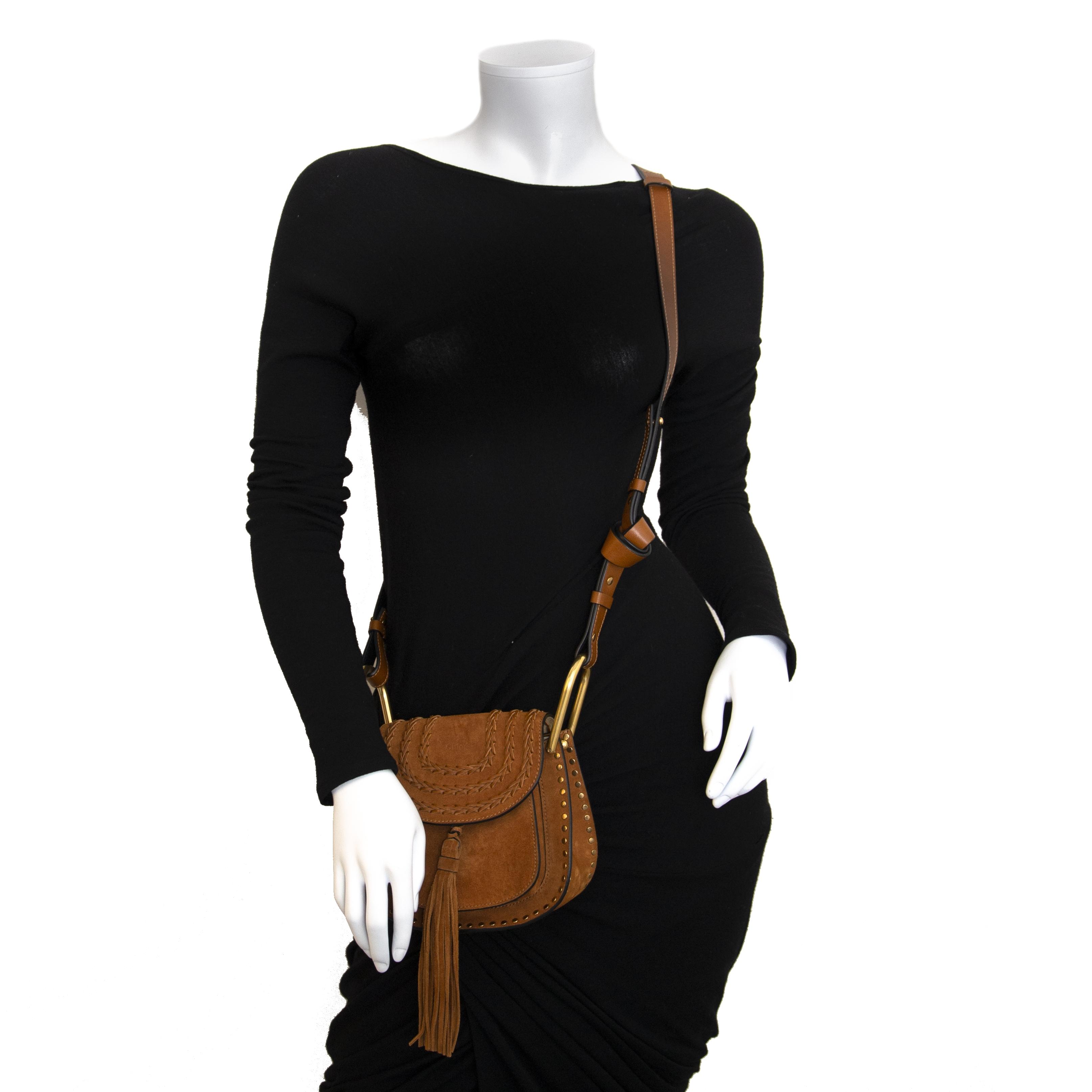 Authentieke tweedehands Chloé Hudson Bag Camel koop online webshop LabelLOV