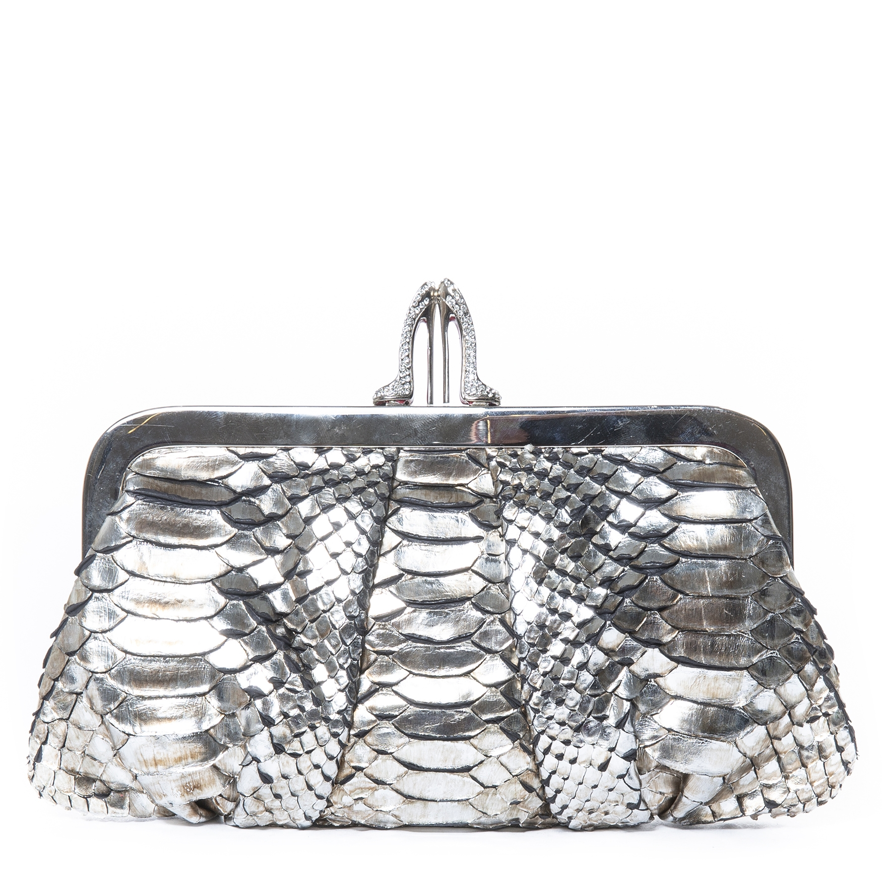 Christian Louboutin Metallic Python Loubiday Clutch