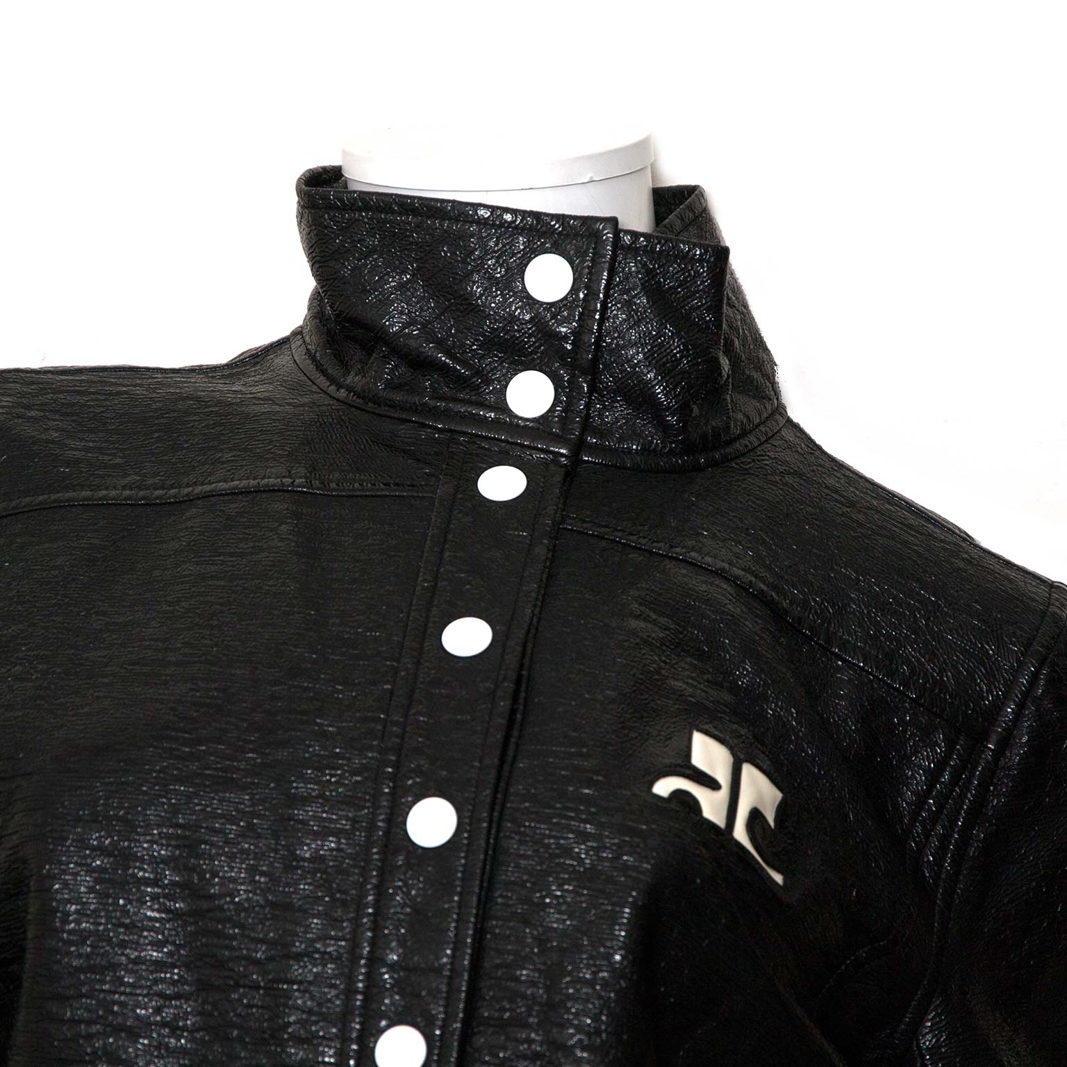 Koop Courrèges Iconic Black Patent Jacket  in Antwerpen aan de beste prijs