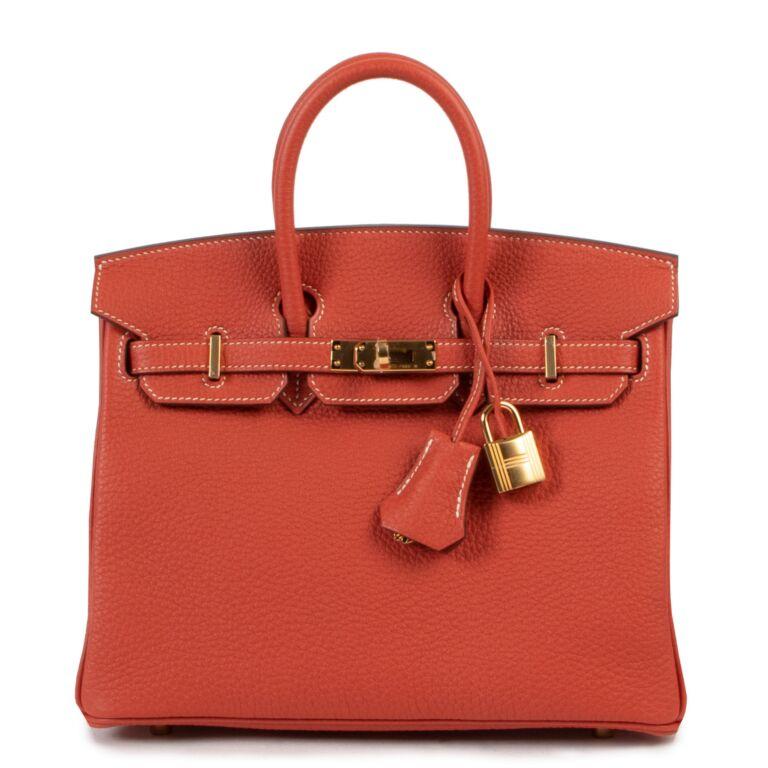 Hermès Birkin 25 Veau Togo Sanguine GHW