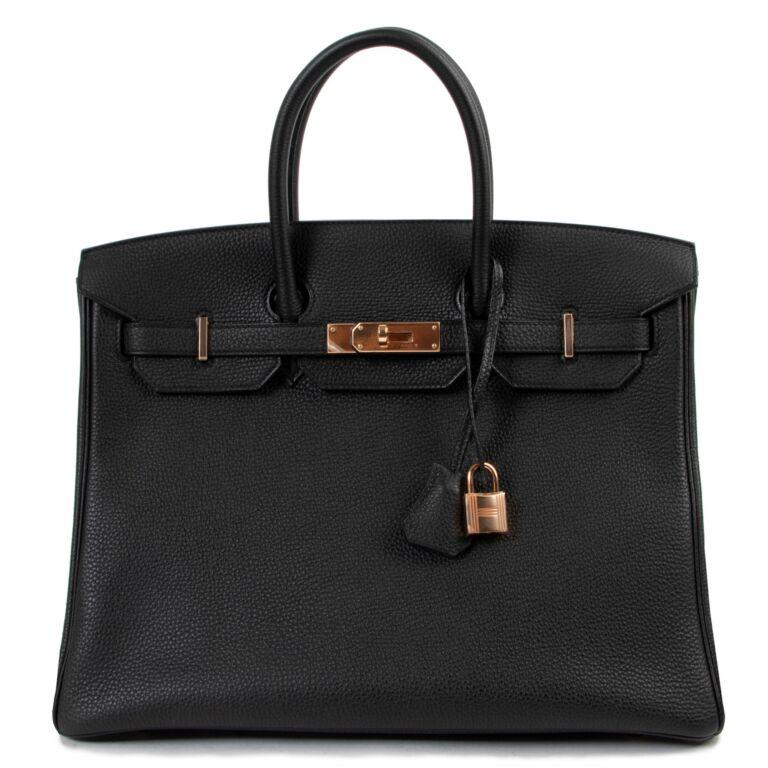 Hermès Birkin 35 Black Togo ROSE GHW