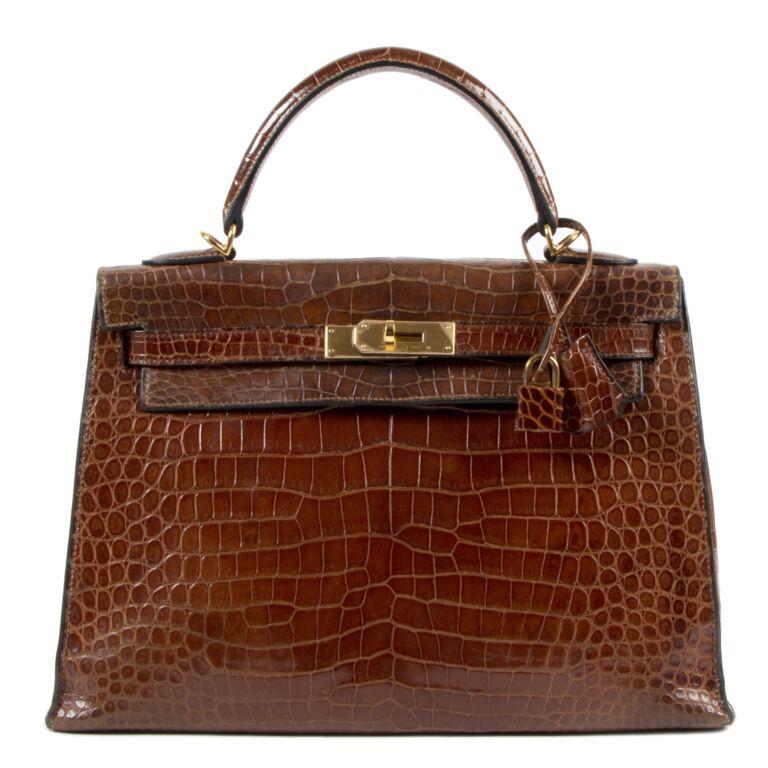 Hermès Kelly 32 Miel Crocodile GHW
