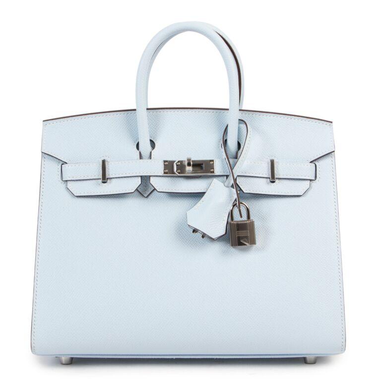Hermès Birkin 25 Sellier Epsom Bleu Brume PHW