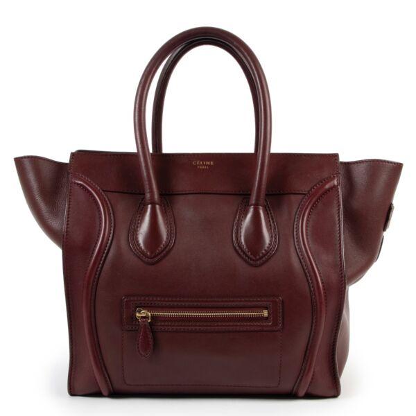 shop second hand authentic Celine Burgundy Mini Luggage Handbag at Labellov
