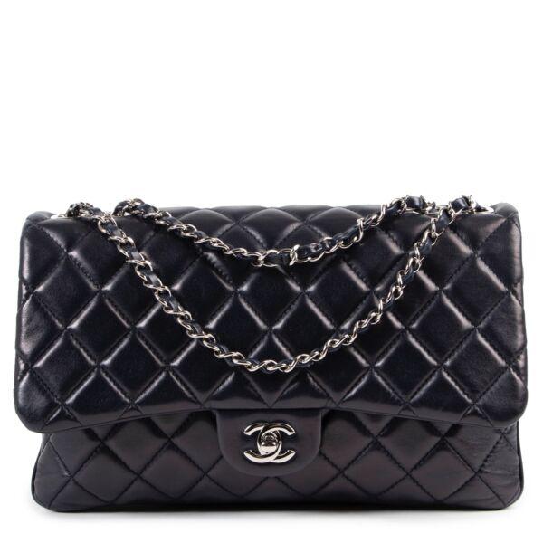 shop safe online secondhand Chanel Dark Blue 3 Bag
