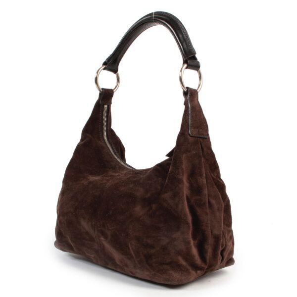 Miu Miu Brown Suede Shoulder Bag