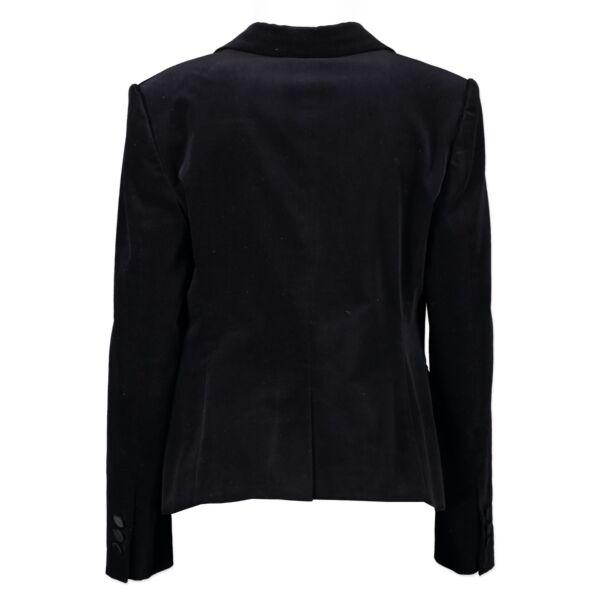 Gucci Black Velvet Blazer Jacket - Size 38 (44IT)