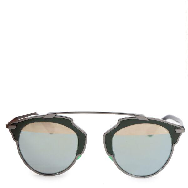 Authentieke tweedehands Dior zonnebril vintage webshop LabelLOV designer luxe veilig online winkelen Antwerpen België mode fashion