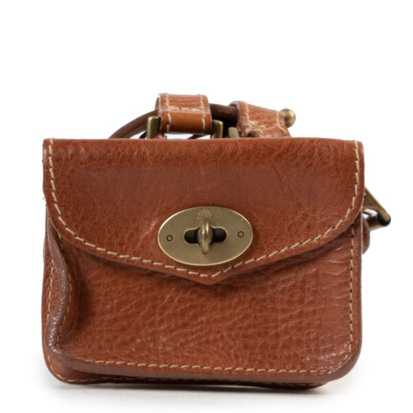 Mulberry Cognac Belt With Pouch in perfect condition