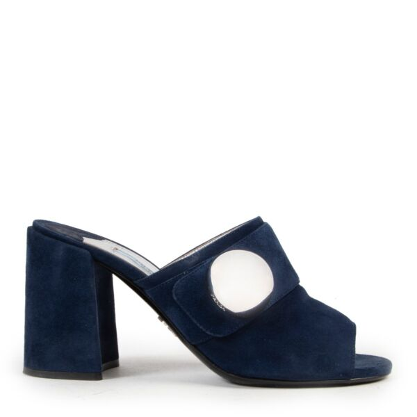 Prada Donna Blue Pumps with Sphere available on the site of Labellov and in the showroom