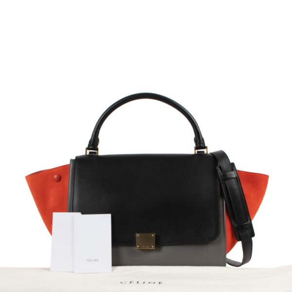 Celine Multicolor Medium Trapeze Shoulder Bag