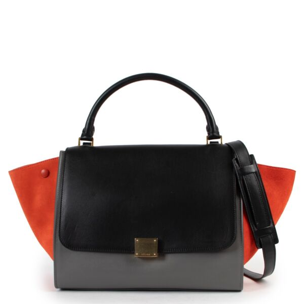 Shop safe online 100% authentic second hand Celine Multicolor Medium Trapeze Shoulder Bag in very good condition at the right price at Labellov in Antwerp.