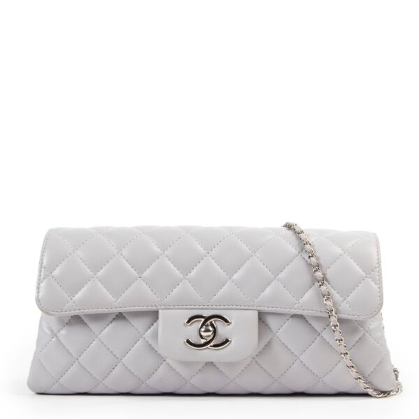 Chanel Grey Classic Flap Bag in good condition available at Labellov online or come by in the store at Antwerp