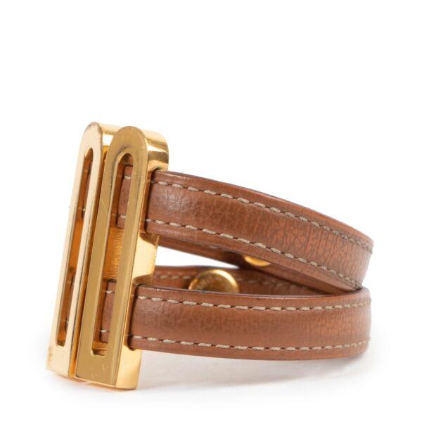 Delvaux Brown Leather Bracelet