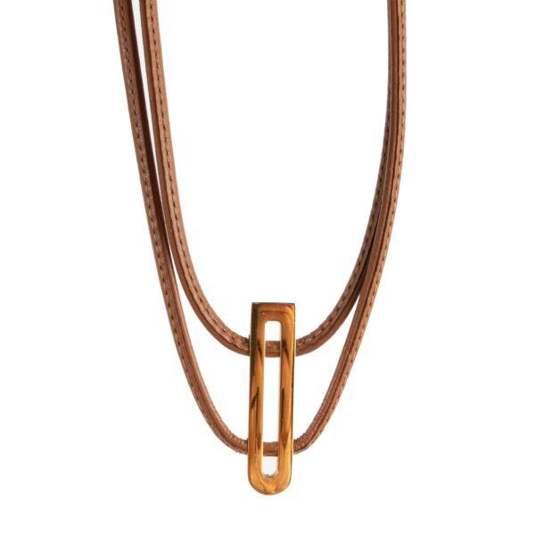 Delvaux Brown Necklace