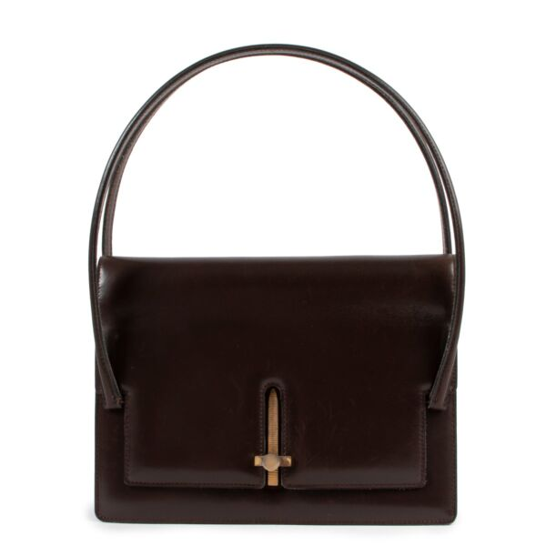 Delvaux Brown Top Handle Bag Buy this 100% authentic Delvaux bag safely here.