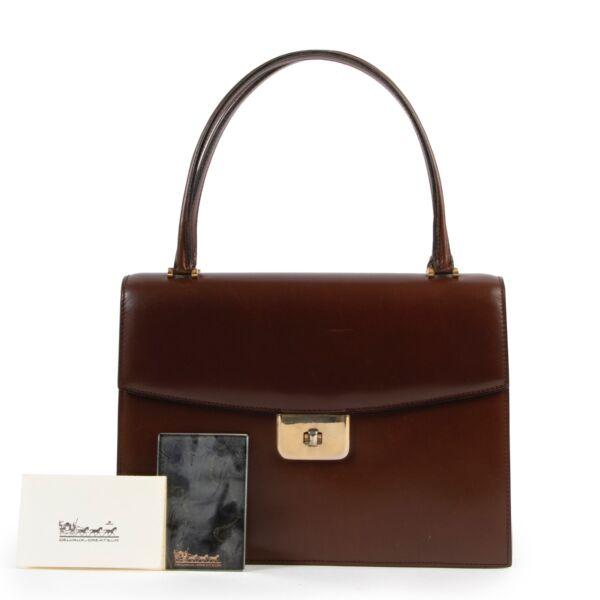 Delvaux Brown Top Handle Bag