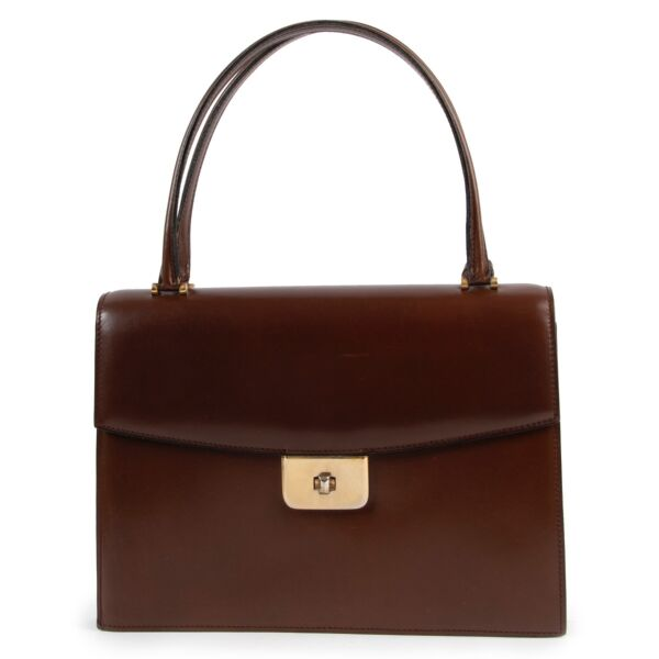 Delvaux Brown Top Handle Bag Buy this piece online safely. 100% authentic