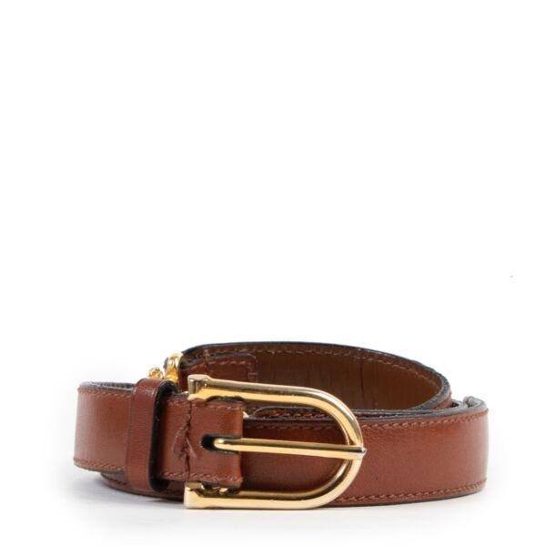 shop second hand vintage Celine camel Belt by Labellov for the best price