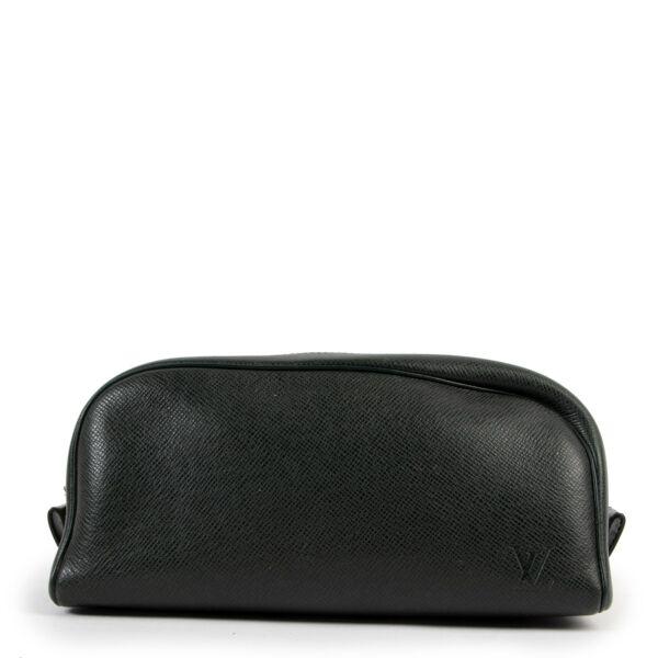 shop safe authentic and affordable Louis Vuitton Green Trousse Toilette PM Pouch at Labellov
