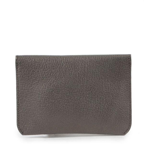 Delvaux Grey Leather Wallet