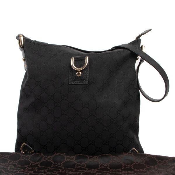 Gucci Black Abbey D-ring GG Crossbody Bag