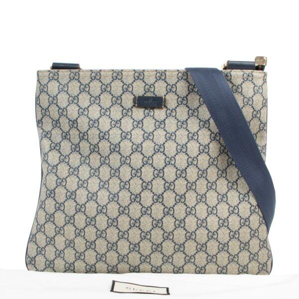 Gucci Blue GG Supreme Crossbody Messenger Bag