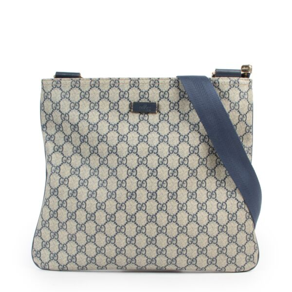Buy this Gucci Blue GG Supreme Crossbody Messenger Bag at Labellov for a reasonable price online or in store.