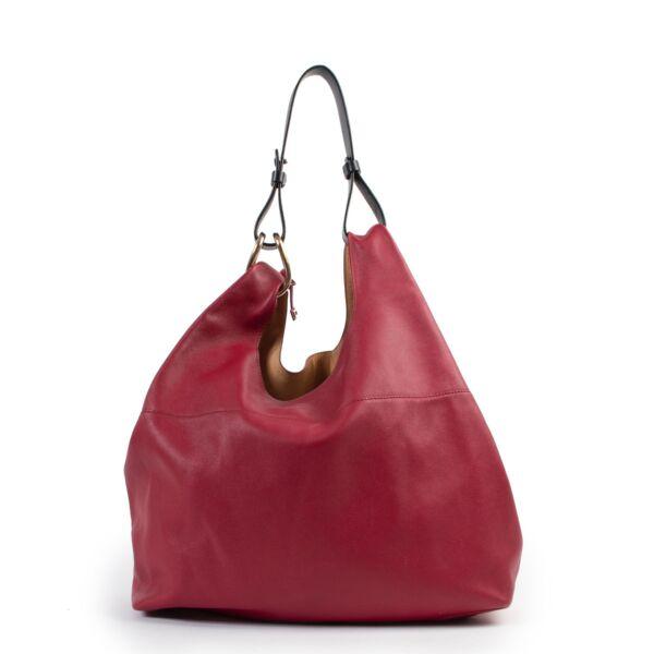 shop safe online Delvaux Raspberry Red Givry With Me Shoulder Bag .