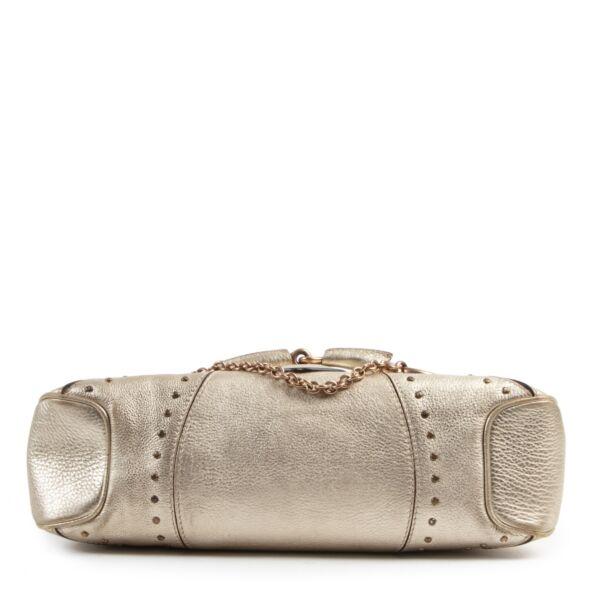 Gucci Gold Mini Horsebit Bag