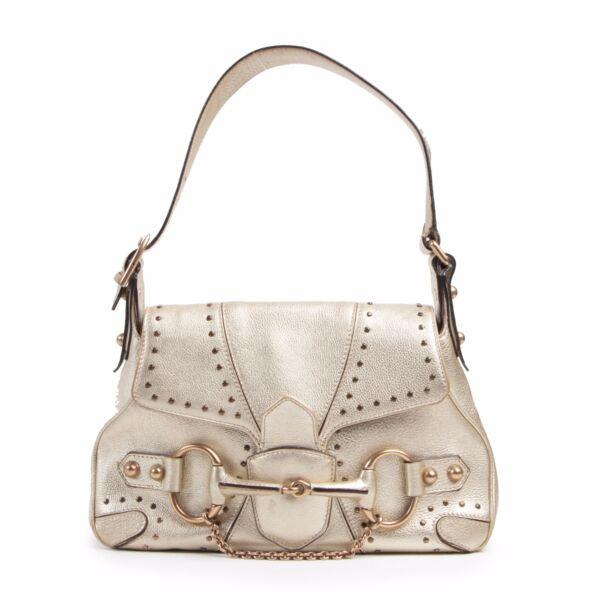 Gucci Gold Mini Horsebit Bag shop safe online Gucci Gold Mini Horsebit Bag