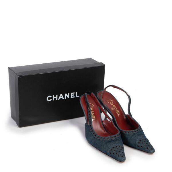 Chanel Blue Denim Pumps - Size 40
