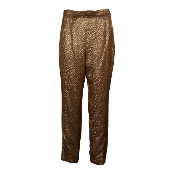 Chanel Brown & Gold Tweed Set 1996 Autumn Collection - Size 40