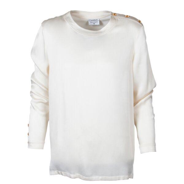 Chanel Cream Silk Top - Size S