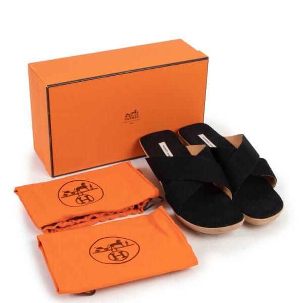 Hermès Black Wooden Sandals - Size 40