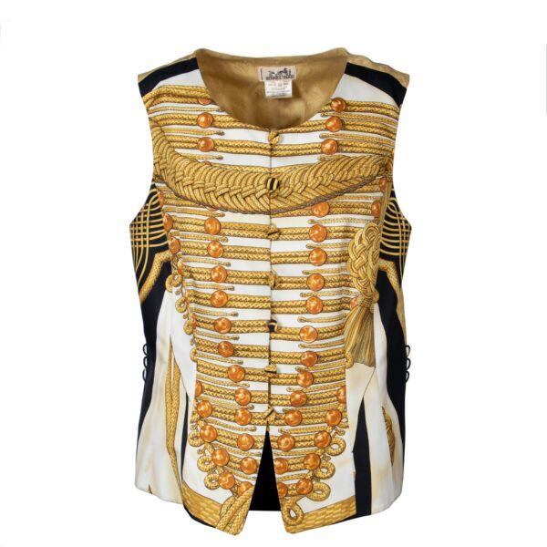 Hermès Gilet top silk buttons
