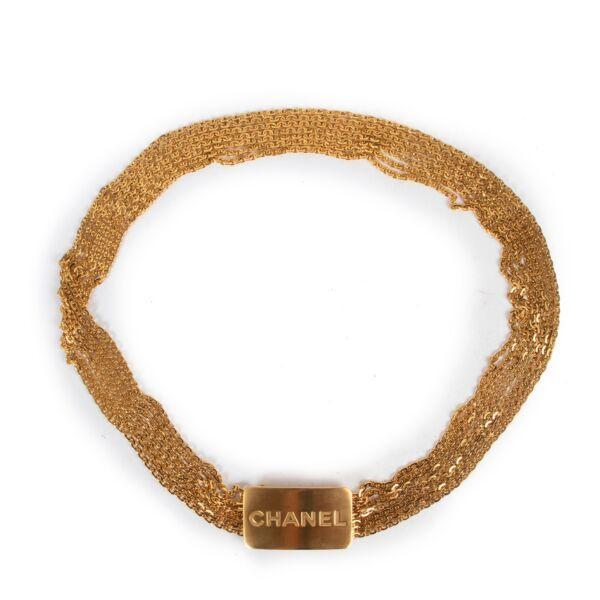Chanel Gold Logo Buckle Belt - Size 80
